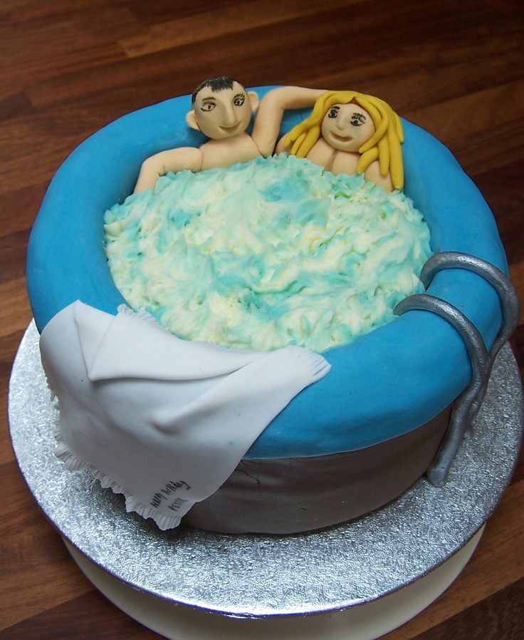 hot tub birthday cake cakes Pinterest