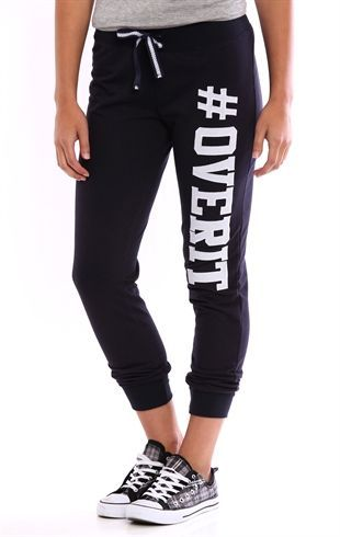 Deb Shops Jogger Pant with Over It Screen $13.50