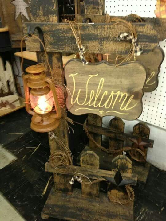 Wood craft old western DIY Furniture Home Decor