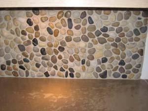 river rock backsplash kitchen remodel ideas pinterest