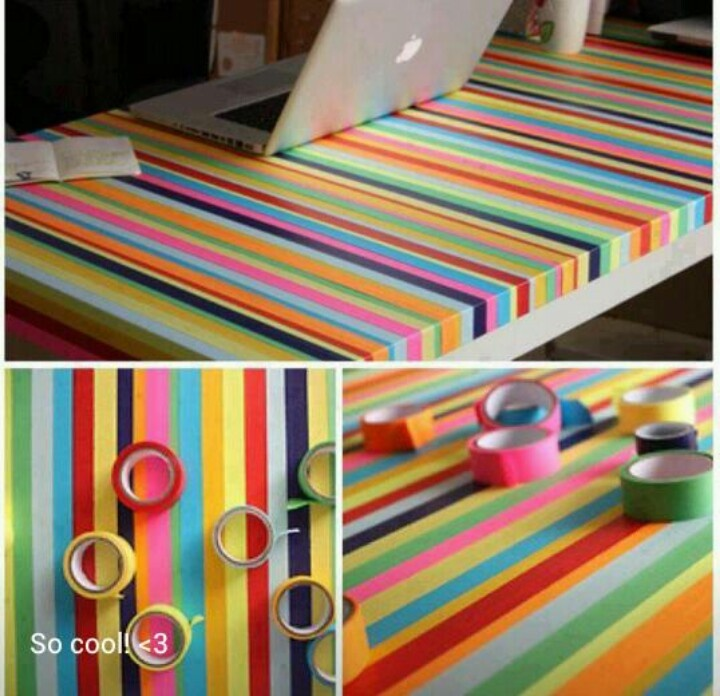 Creative desk decor with washi tape bedroom ideas pinterest