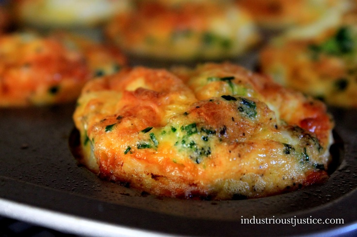 Broccoli & Cheddar Cheese Egg Muffins | Convertable Recipes | Pintere ...