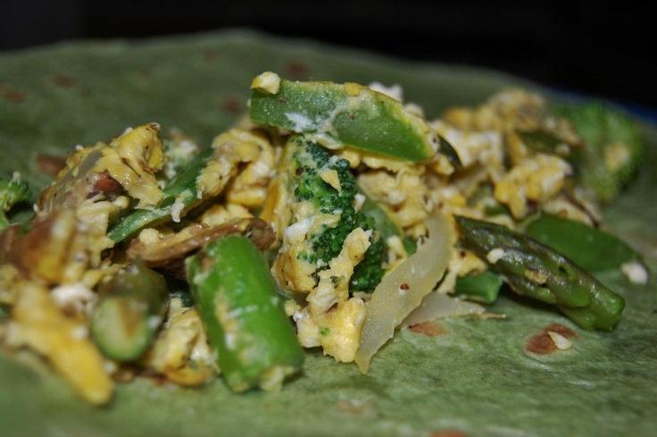 Scrambled Egg & Veggie Wrap (breakfast burrito or a great ... | Food!