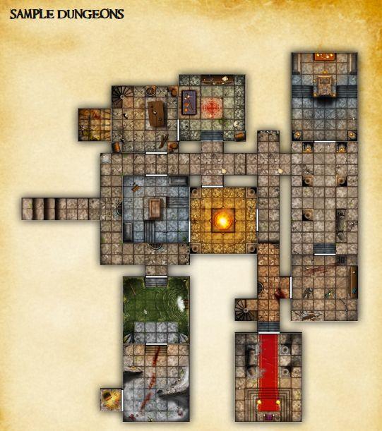 endless dungeons basic set dtrpg fantasy maps floor david s rpg dungeon floor plans 2