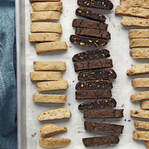 ... biscotti in the oven. Recipe: Lemon-Olive Oil Biscotti Recipe
