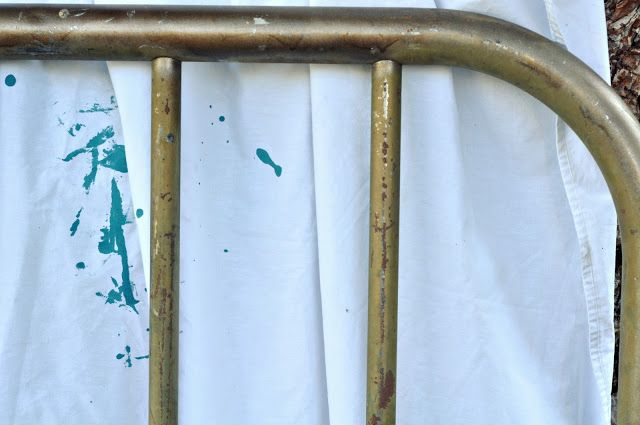 Painting a metal bed frame painting ideas tips pinterest for How to paint a metal bed frame