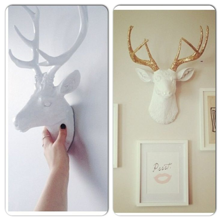 white faux taxidermy master bedroom home pinterest. Black Bedroom Furniture Sets. Home Design Ideas