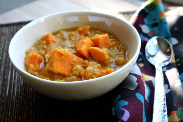 Lentil and Sweet Potato Stew | food | Pinterest
