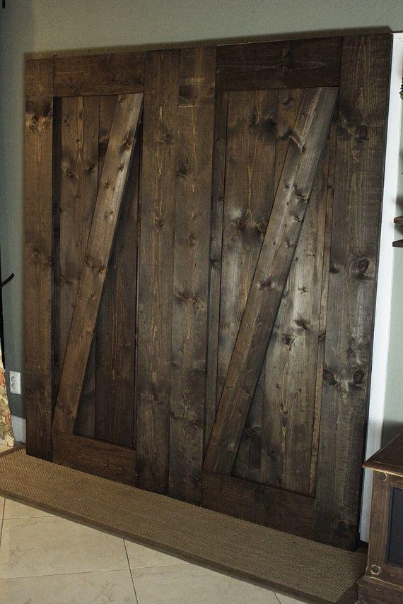 Wooden barn door unique handmade interior rustic doors for Rustic interior barn doors