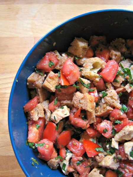Tomato Bread Salad - I went a little overboard on the vinegar, but it ...