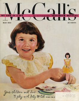 The May 1951 issue of McCall's magazine introduced Betsy McCall, who was presented as five going on six.