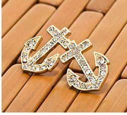 Anchor Stud Earrings I want!