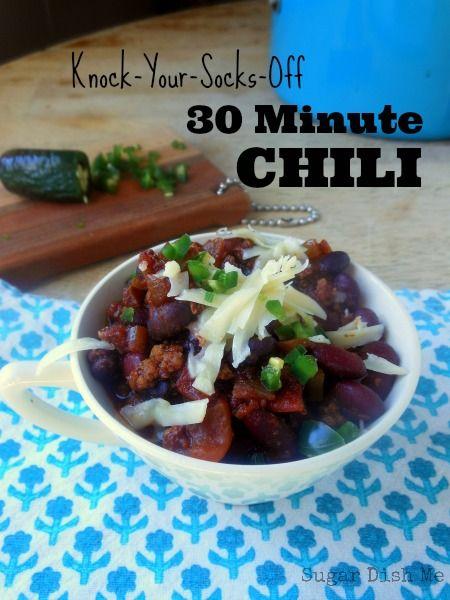 Knock Your Socks Off 30 Minute Chili | Recipe