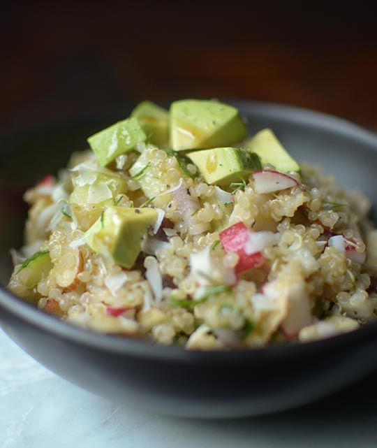 golden quinoa salad with radish dill amp avocado follow the subs they ...