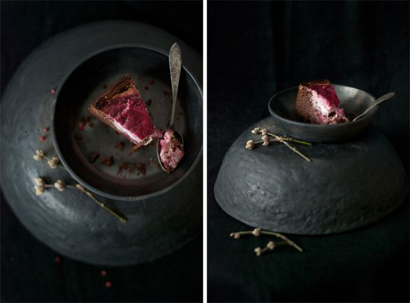 Dark Chocolate Brownie Cake with Raspberry Goat Cheese Swirl by @egle ...