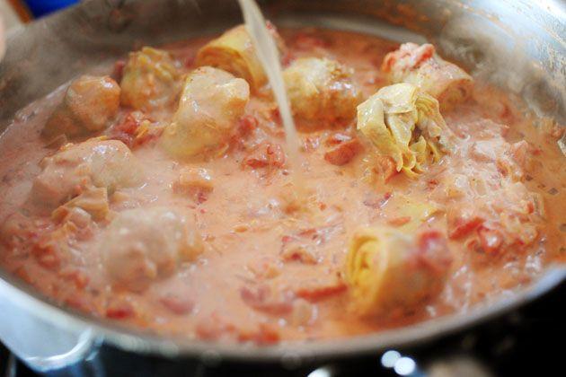 Spaghetti with Artichoke Hearts and Tomatoes | Recipe