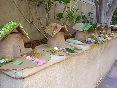 Woodland party activity - decorate fairy house