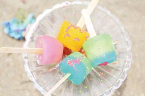 Sherbet pink × blue | Kawaii Ice Cream/Popsicles | Pinterest