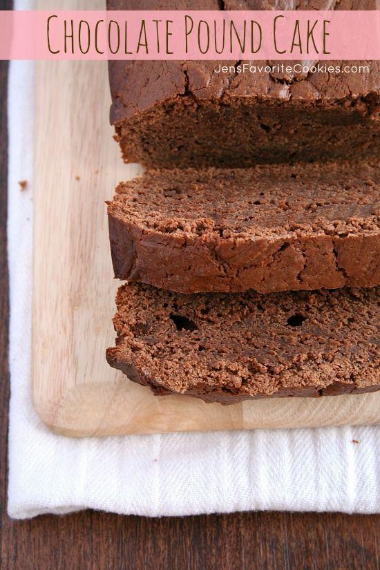 Chocolate Pound Cake   Jens Favorite Cookies