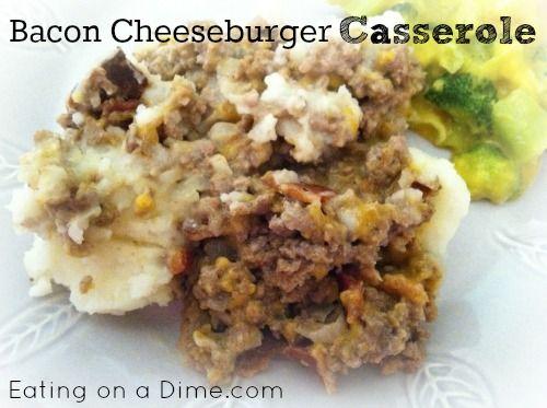 Bacon Cheeseburger Casserole | Freezer Cooking | Pinterest