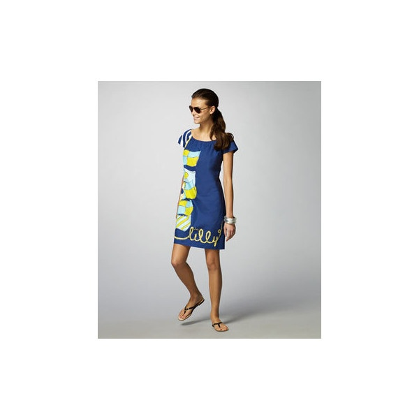 Lilly Pulitzer: Sullivan Dress Nautical found on Polyvore