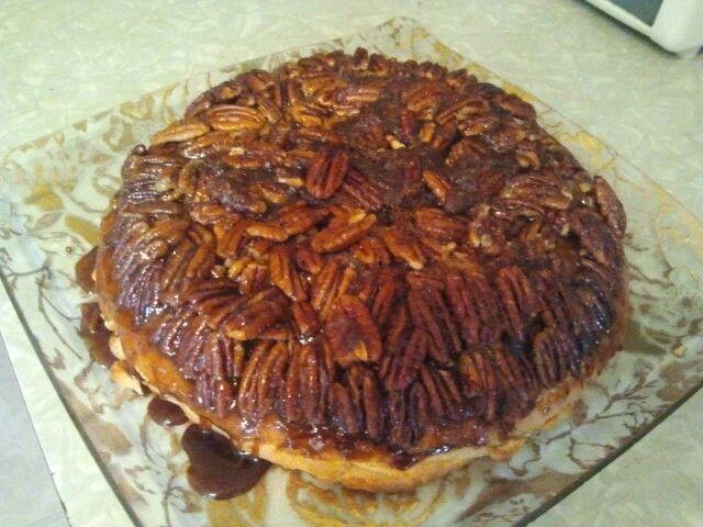 My attempt at Apple Pecan Upside Down Pie :)