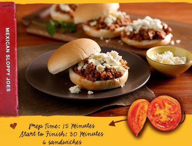 Mexican Sloppy Joes - Old El Paso | Food | Pinterest
