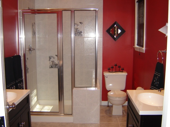 red black and white bath remodeling ideas pinterest: bathroom black red white