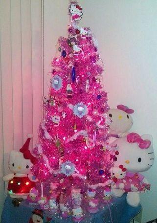 Navidad fucsia con kitty navidad pinterest - Arboles de navidad rosa ...
