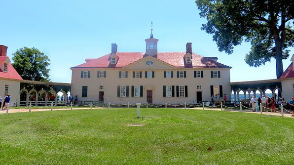 Mount Vernon, George Washington's historic home on the banks of the Potomac River in Virginia