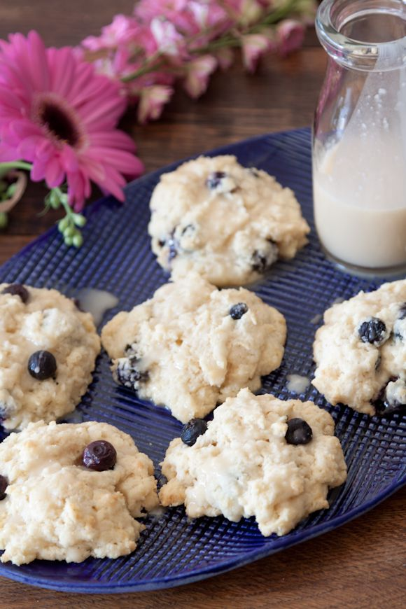 Lemon Blueberry Scones with Lemon Glaze - Whats Gaby Cooking