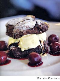 Chocolate Cherry Shortcakes by Nancy Oakes and Pamela Mazzola