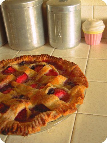 Strawberry & Blueberry Pie   Bake for Therapy   Pinterest