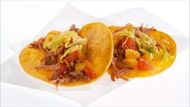 Giada De Laurentiis - Pulled Pork Tacos with Citrus Salsa
