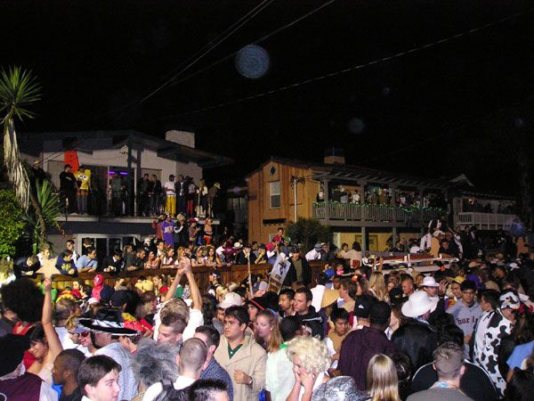 Halloween in Isla Vista on Del Playa Dr Ucsb Parties
