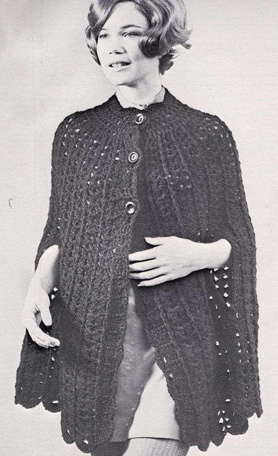 Vintage Crochet Pattern Instructions To Make A Ladies