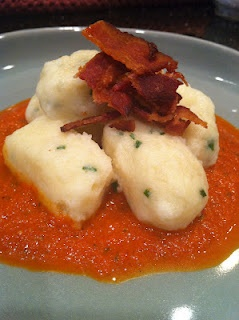 Chive and Ricotta Gnocchi with a Roasted Red Pepper Sauce http ...