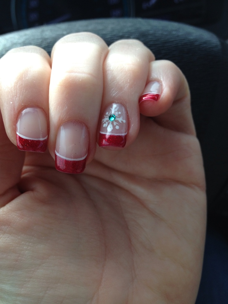 Christmas shellac nails | Cool Nails | Pinterest