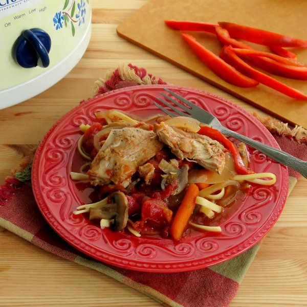 Crock Pot Chicken Cacciatore - an easy and healthy comfort dish. # ...