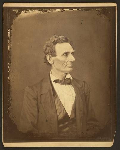 Lincoln portrait by Alexander Hesler, photographed in Springfield, Illinois, on June 3, 1860.