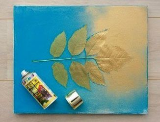 spray paint leaves on canvas for leaf silhouette how do. Black Bedroom Furniture Sets. Home Design Ideas