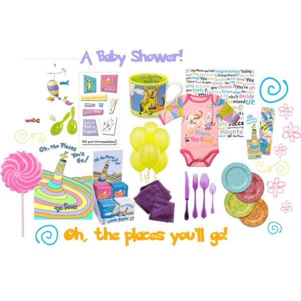 oh the place you 39 ll go baby shower created by thej on polyvore