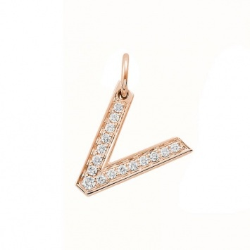 V Alphabet In Diamond Diamond #Pendant | ALPHABET COLLECTION | Pinterest