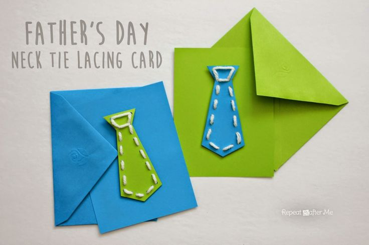 diy father's day tie card