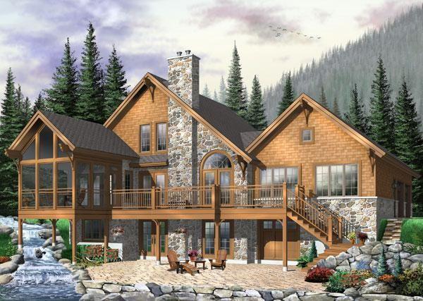 Coastal Country Craftsman House Plan 64981
