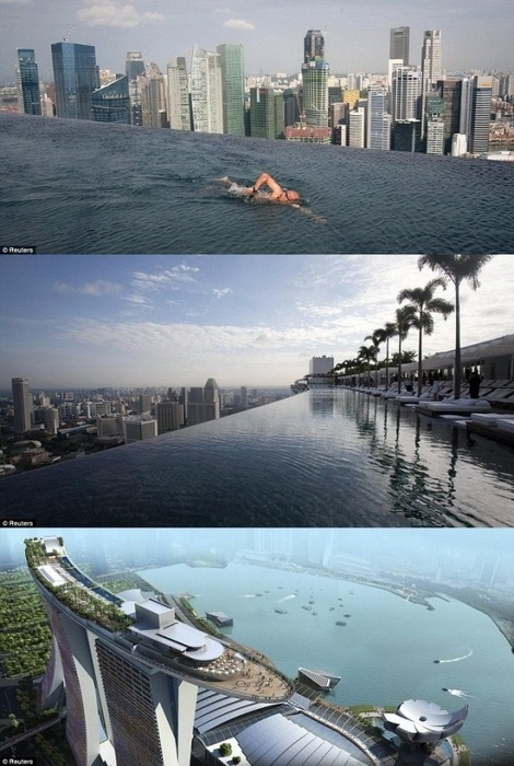 Singapore Hotel With Infinity Pool On Rooftop Image Bay Sands Hotel In Singapore I Must Stay Here And Swim In This Pool