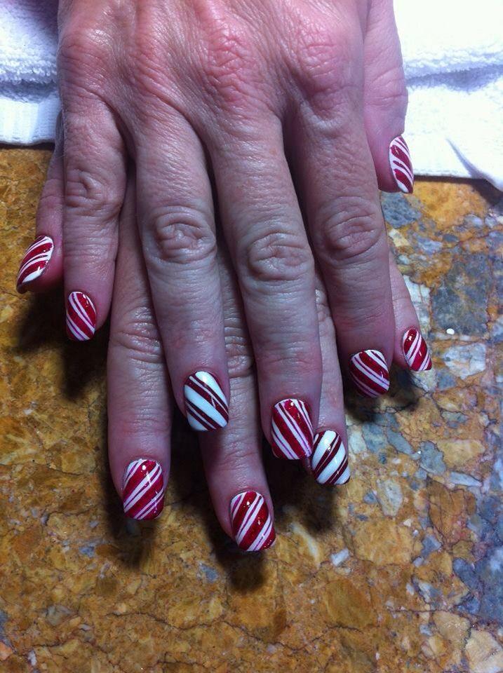 Nails art....Christmas nails candy canes | Holiday Nail Designs | Pin ...