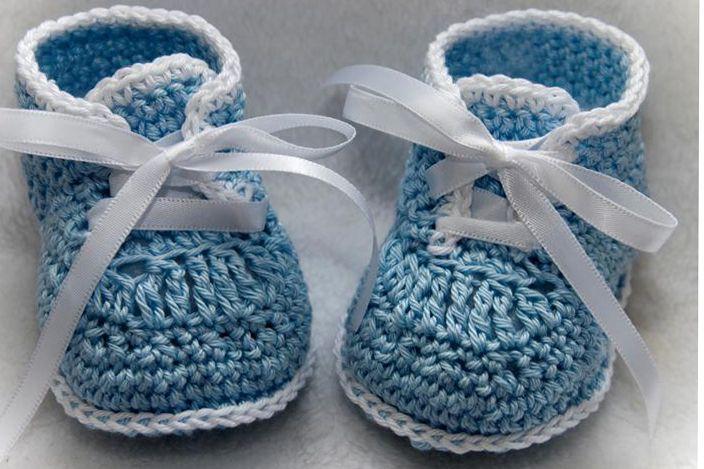 CC65e-Lace Up Grace Booties Pattern Crochet **** Baby ...