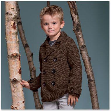 modèle tricot gratuit veste col chale