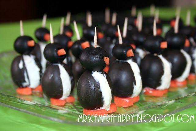 Cream Cheese Penguins | Baby Shower Ideas | Pinterest